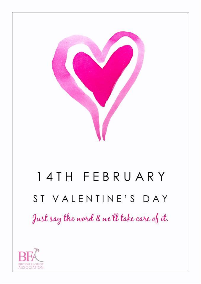 2021 British Florist Association Valentines Promotional Material