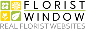This image has an empty alt attribute; its file name is floristWindowLogo.png