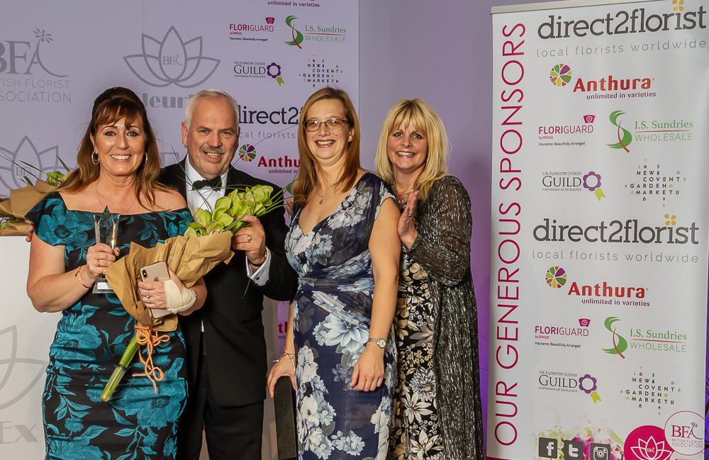 Floristry Training Provider of the Year, Writtle University college, BFA industry awards, FleurEx 2019